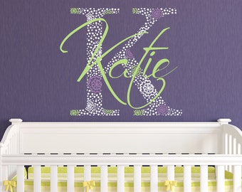 Lilly Pulitzer Inspired Monogram Wall Decal