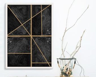 Abstract art, fine art prints, minimalist art, black and white, wall art prints, fine art , wire art , geometric art , nordic art , A0 Print