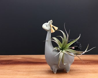 llama vase ONE / alpaca vase/ air plant vase / antique jade / price for one llama