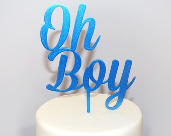 Oh Boy Cake Topper - Baby Shower Cake Topper - Baby Boy Cake Topper