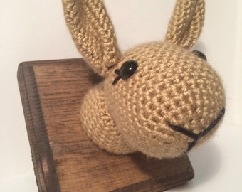 Amigurumi Crochet Taxidermy -  Rabbit