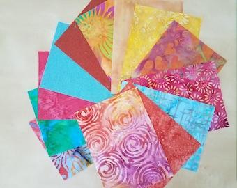 Pre Cut Batik Fabric Rectangle Pack
