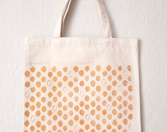 Gold Petal Canvas Tote