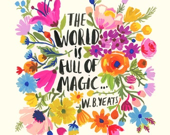 The World is full of Magic wall print
