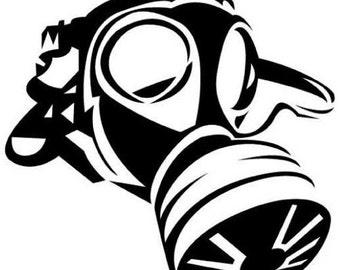 Apocalypse Gas Mask Vinyl Decal