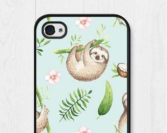Sloth iPhone 8 Case Mint iPhone 7 Case Sloth iPhone SE Case Samsung Galaxy S7 Case Cute iPhone 6 Case iPhone 6 Plus Case iPhone 5 Case