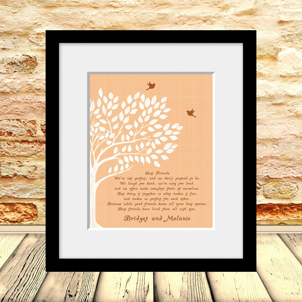 Best Friend Poem Best Friends Wedding Gift Best Friend Gift