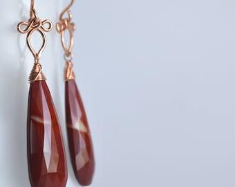 Preeda - Mookaite Jasper, 14k Rose Gold Filled Earrings || Jasper Earrings