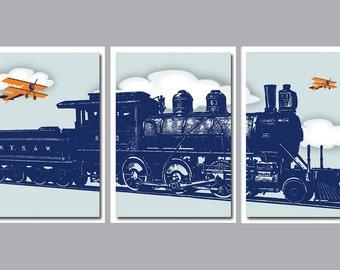 Train Wall Art, Train Wall Decor, Train Decor, Boys Bedroom Wall Decor, Boys Bedroom Art, Playroom Wall Art, Playroom Wall Decor,
