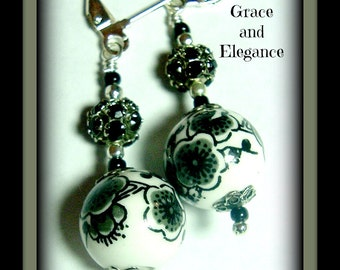 Grace and Elegance-lever back dangle earrings