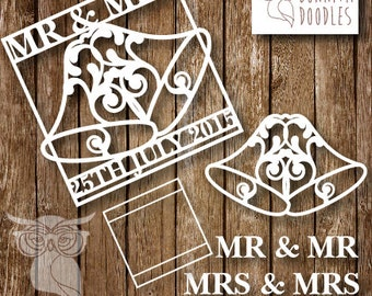 Wedding Bells elements personal and Commercial paper cutting template
