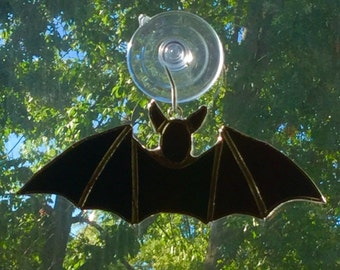 Stained Glass Bat Suncatcher