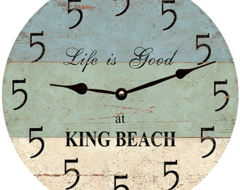 5 O Clock Personalized Beach Clock