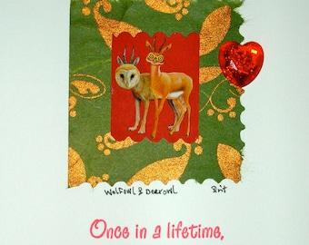 Valentine, Humorous Card ,Love, Handmade