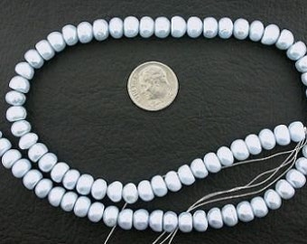 16 inch strand blue button freshwater pearl