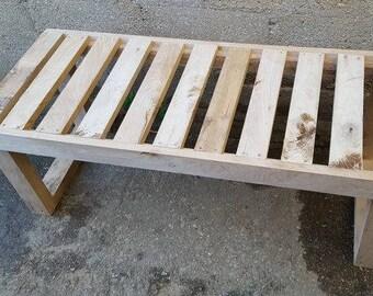 Wooden Slatted Gym Garden Bench