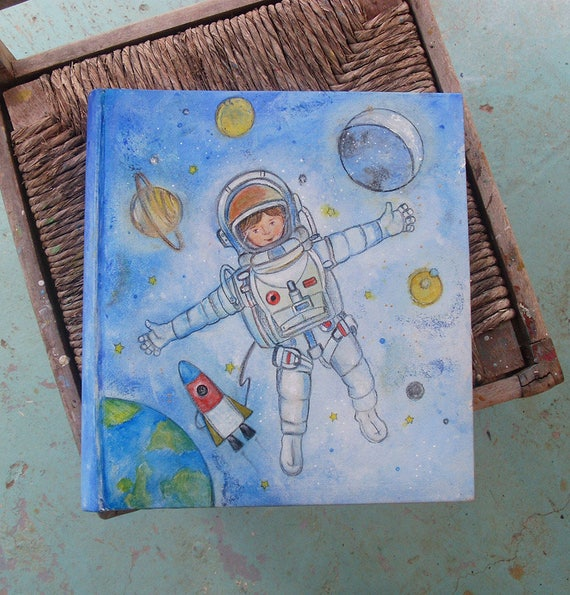 Photo Books, Photobook, Photo Album, Book Bound Photo Albums, Leather-like Photo Album, Leather-like Photo Book, MY LITTLE ASTRONAUT