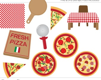 Commercial Use Clipart, Commercial Use Clip Art, Pizza Clipart, Pizza Clip Art, Pizza Party, Commercial License, Commercial Clipart