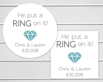Engagement Stickers, Engagement Party Favor Sticker, Wedding Stickers, Wedding labels (#037)
