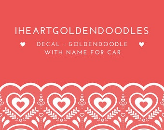 Goldendoodle Decal For iHeartGoldendoodles Group