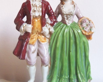 Courting Couple Made in Occupied Japan Figurine