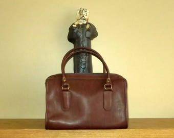 Dads Grads Sale Coach Madison Satchel In Mocha Leather With Brass Hardware Style No. 9725 - Made In United States - VGC