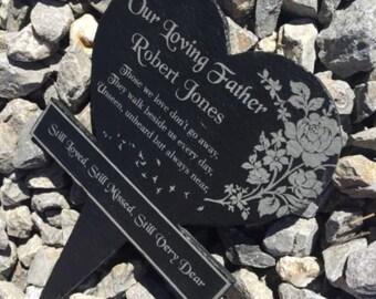 Grave memorial, slate memorial planter, Memorial plaque, In Loving Memory