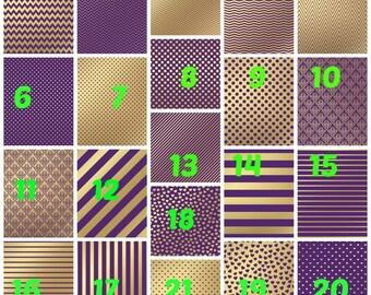 Pattern Vinyl, Basic Purple & Gold, HTV, Printed Vinyl, Adhesive Outdoor Vinyl, Heat Transfer Vinyl, Iron On Vinyl, Purple and Gold