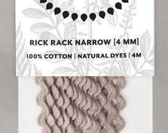 Naturally Dyed 4mm Rick Rack-Lavender