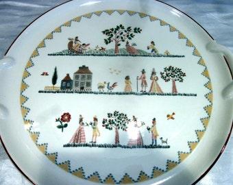 VILLEROY & BOCH American Sampler Cake Plate