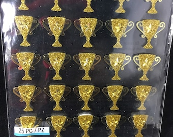 Gold Glitter Trophy Repeat Jolees Boutique