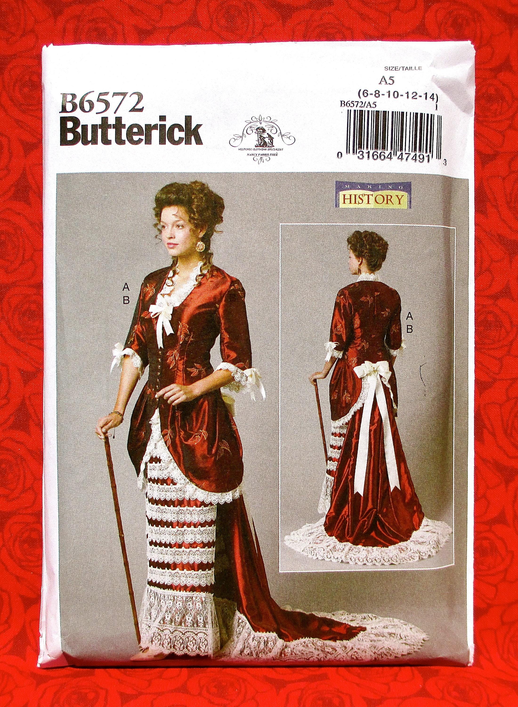 Butterick Sewing Pattern B6572 Victorian Suit Jacket Skirt