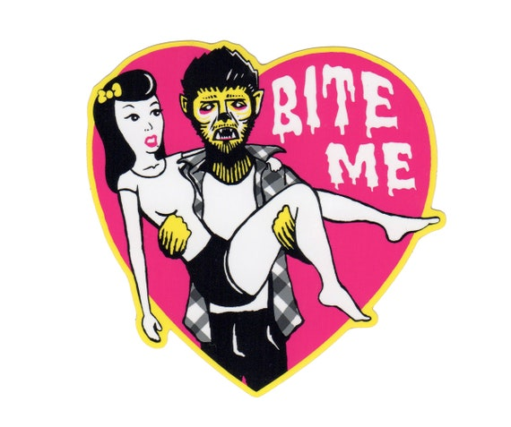 BITE ME Vinyl Sticker