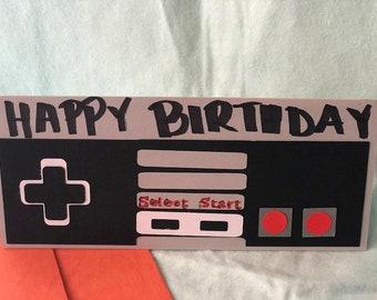 Nintendo Gift for him Video game Birthday card handmade Geek Nerd Gift for her Texas Handmade Gift card card Geek gift gift