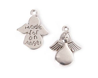 11 Antique angel jewelry making charm craft jewelry project necklace charm bracelet charm angel charm earring charm