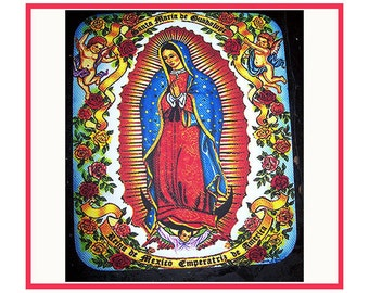 Virgin of Guadalupe mouse pad retro Mexico pop culture religious saint kitsch mousepad