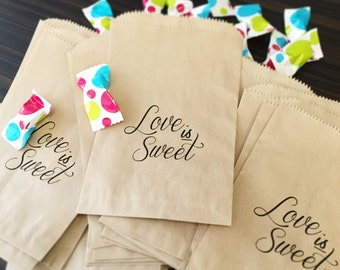 50% OFF! Love is sweet! Candy Bar Buffet Favor Bags!