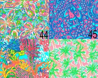 Printed Vinyl, Lilly Inspired 44-47, Pattern Vinyl, Adhesive Outdoor Vinyl, Heat Transfer Vinyl, HTV, Lilly Pulitzer Heat Transfer, Lilly