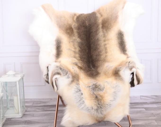 Reindeer Hide | Reindeer Rug | Reindeer Skin | Throw XL LARGE - Scandinavian Style #0RE11