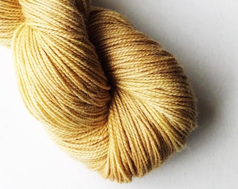Naturally dyed Blue Faced Leicester and nylon sock weight yarn