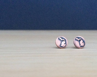 Michigan earrings | stud earrings | michigan studs | jewelry for her