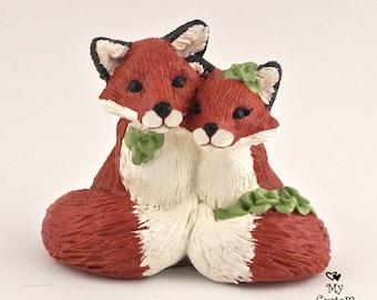 Fox Wedding Cake Topper - Realistic