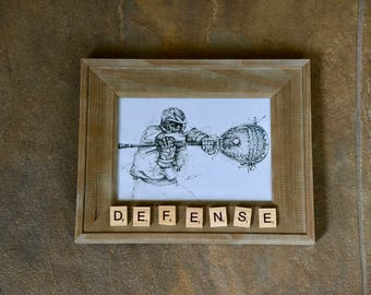 DEFENSE ~ 5x7 Lacrosse Picture Frame