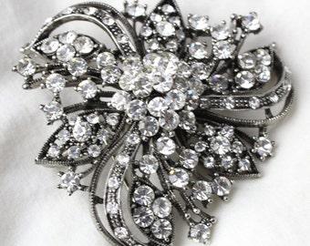 Vintage Silver Diamond Brooch