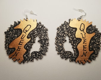 Crown of a Queen Earrings  (Natural Hair/Afro Earrings)