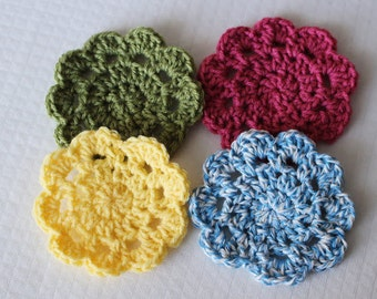Easy Crochet Coasters PATTERN pdf instant digital download for beginners