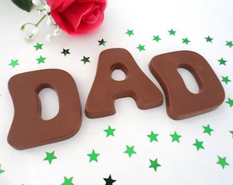 Dad Birthday Gift, Fathers Day, Milk Chocolate Letters, Dad Gift Idea, Best Dad, Unique Birthday Gift, Like a Dad, Fathers Day Chocolate