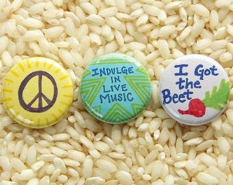 Summer Festy Buttons - Set of 3