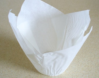 White Tulip Muffin Case - 50 in pack