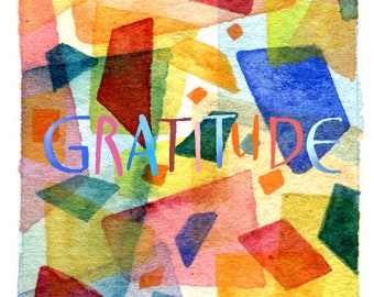 Gratitude Matted Fine Art Print